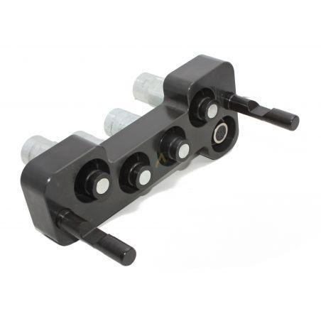 Multicoupleur 5 lignes, 4 coupleurs 3/8 et 1 possible sur connecteur électrique