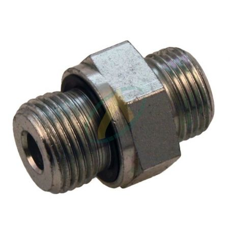 Raccord hydraulique droit mâle 12L / 1/4 3/8 1/2 BSP