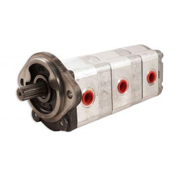 Pompe hydraulique triple 4.6+6.2+6.2 cm3 pour minipelle CASE modèle CX16
