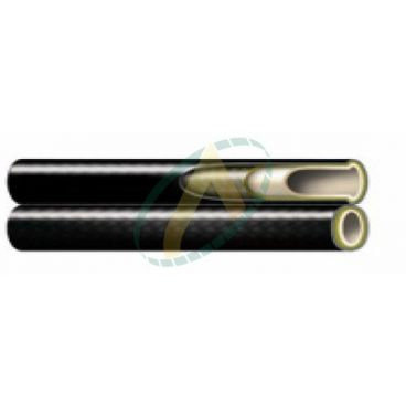 Flexible hydraulique 1 tresse jumelé P1T diamètre intérieur 9.8 mm (3/8'') - 225 bars