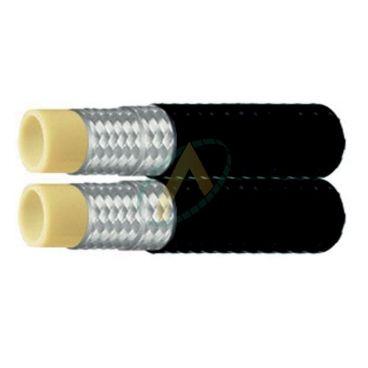 Flexible hydraulique 1 ou 2 tresses jumelé R7 diamètre intérieur 6 mm (1/4'') - 210 bars