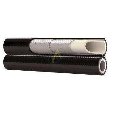 Flexible hydraulique 1 ou 2 tresses jumelé R8 diamètre intérieur 9.7 mm (3/8'') - 280 bars
