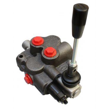 Distributeur monobloc 45 l/min centre à suivre uniquement 1 tiroir double effet A&B vers T crantage levier poussé tiré