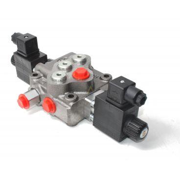 Distributeur monobloc 45l/min centre à suivre commande électrique 12 Volts