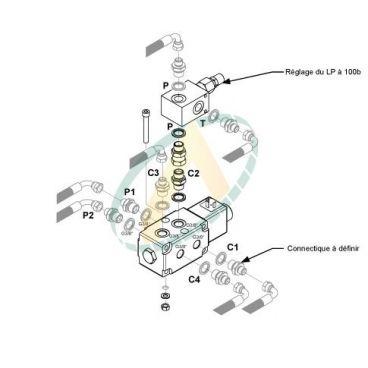 Kit sélecteur 5ème fonction supplémentaire pour distributeur à commandes basse pression