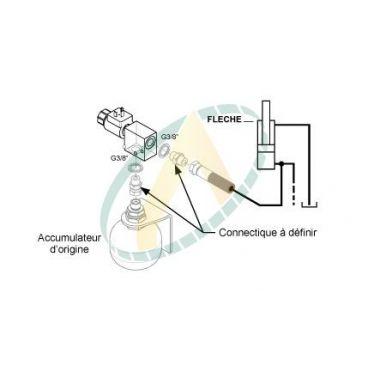 Kit suspension de bras pour distributeur à commandes basse pression