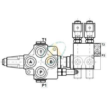 Distributeur Rotor 120L/min 250 bar + Commande