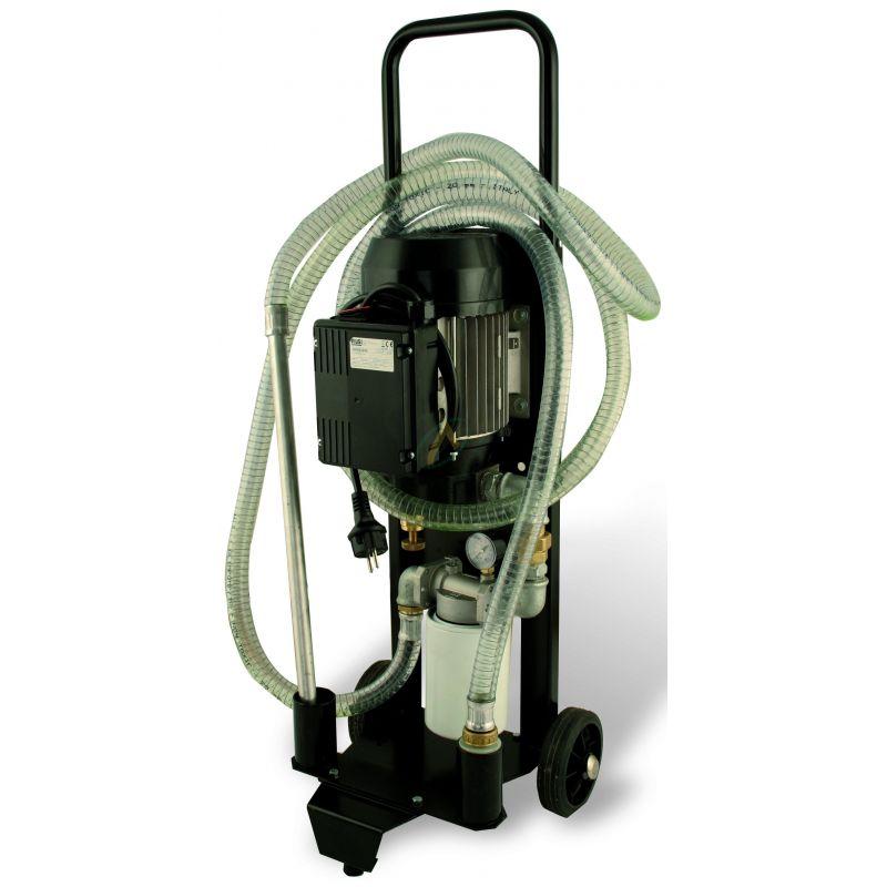 Pompe de transfert d'huile 30L/min avec filtration 10 micro
