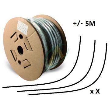Flexible 2 tresses compact diamètre intérieur 16 mm (5/8'') - 250 bars, bobine 20 m de chutes