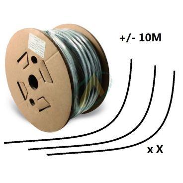 Flexible 2 tresses standard diamètre intérieur 6 mm (1/4'') - 400 bars, bobine 60 m de chutes
