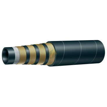 Flexible hydraulique 6 nappes R15 diamètre intérieur 32 mm (1'' 1/4) - 420 bars