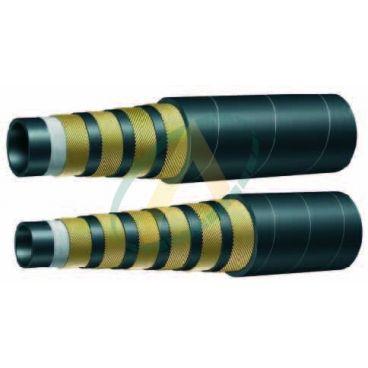 Flexible hydraulique 4 nappes alfabiotech 5000 diamètre intérieur 32 mm (1'' 1/4) - 350 bars