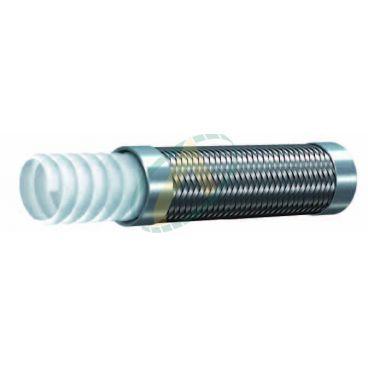 Flexible Téflon convoluté 1 tresse diamètre intérieur 16 mm (5/8'') - 62 bars