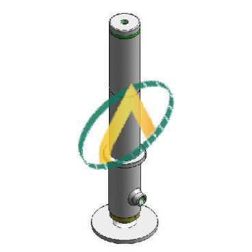 Béquille stabilisatrice double effet diamètre 35mm, pied fixe