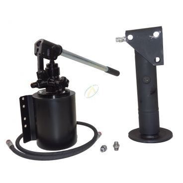 Béquille hydraulique diamètre 65 mm avec pompe manuelle
