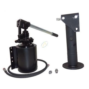 Béquille hydraulique diamètre 85 mm avec pompe manuelle