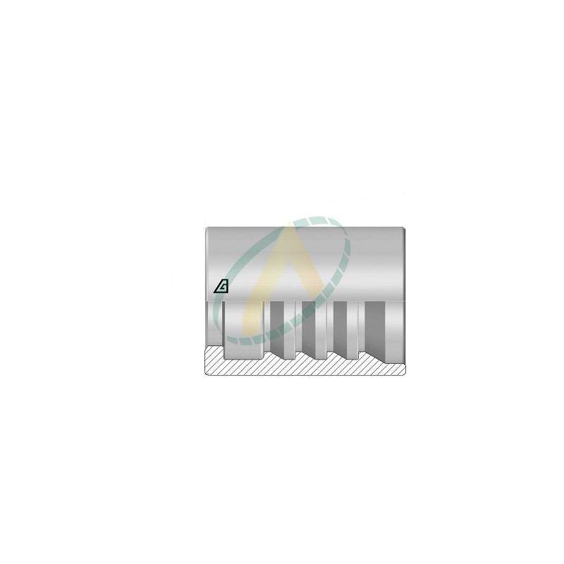 """Jupes 13 mm ( 1/2"""" ) pour flexibles 2SN/ R2AT, 4SP, alfabiotech 6000, 3SPT, Avec dénudage simple accroche"""