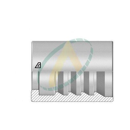 """Jupes 25 mm ( 1"""" ) pour flexibles R15, 4SH, alfabiotech 5000, alfabiotech 6000, Avec double dénudage embout interlock"""