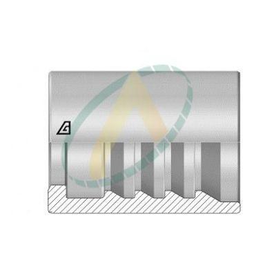 """Jupes 38 mm ( 1"""" 1/2 ) pour flexibles 4SH, Avec double dénudage embout interlock"""