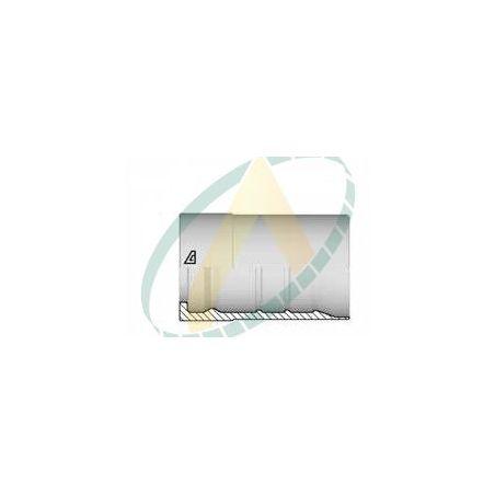 """Jupes 38 mm ( 1"""" 1/2 ) pour flexibles R15, alfabiotech 5000, alfabiotech 6000, Avec double dénudage embout interlock"""