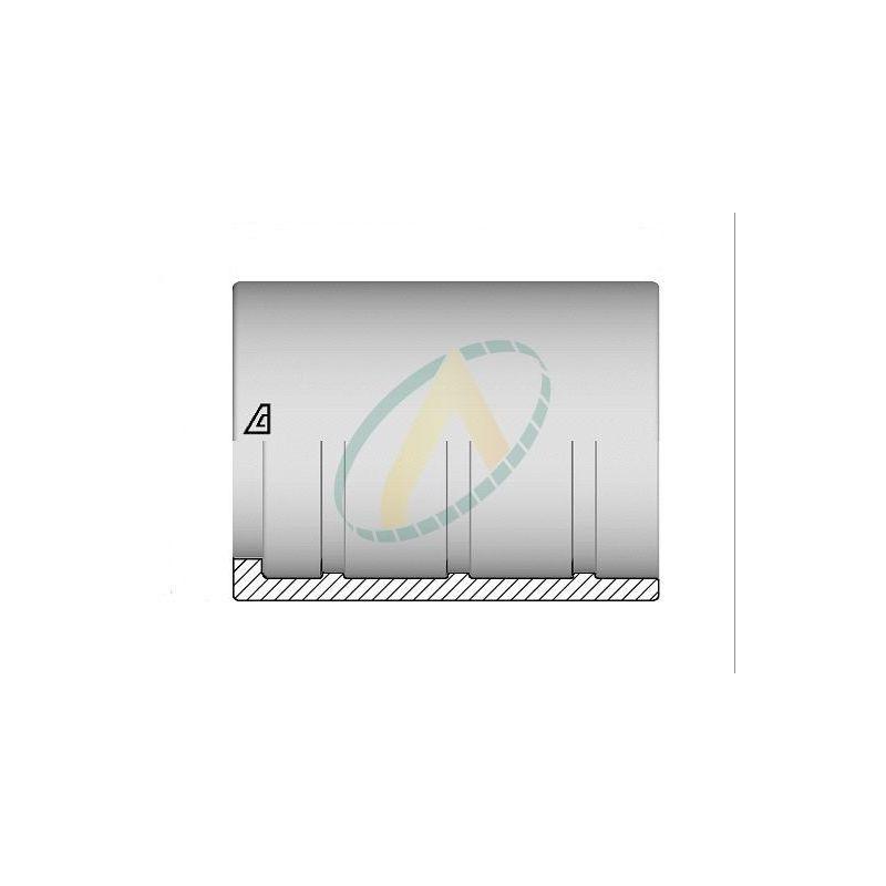 """Jupes 38 mm ( 1"""" 1/2 ) pour flexibles R4, Sans dénudage simple accroche"""