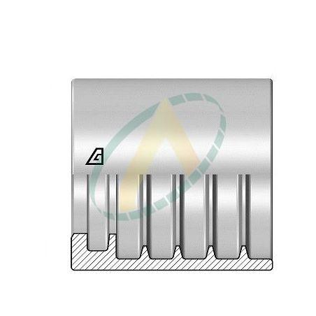 """Jupes 19 mm ( 3/4"""" ) pour flexibles 2SN/ R2AT, 4SP, 3SPT, alfabiotech 5000, Avec dénudage simple accroche"""
