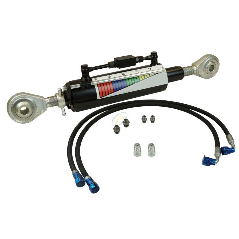 Troisième point hydraulique rotule 25.4 mm tige 50 mm entraxe fermé 635 mm, avec flexibles