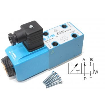 Distributeur Cetop 3 simple bobine A et B fermé à commande électrique