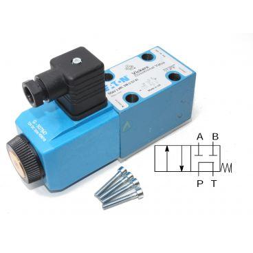 Distributeur Cetop 3 simple bobine centre tandem (p vers t) à commande électrique