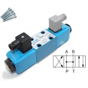 Distributeur Cetop 3 double bobine centre ouvert (tous les ports) à commande électrique
