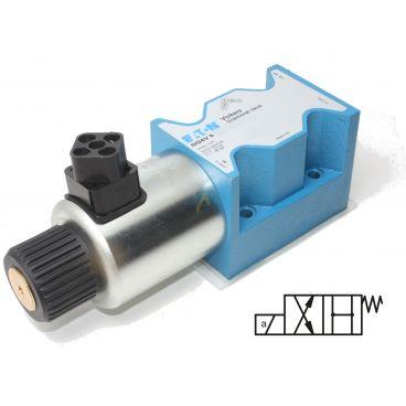 Distributeur Cetop 5 simple bobine centre ouvert (tous les ports) à commande électrique