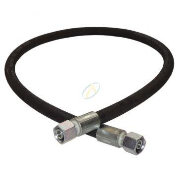 Flexible hydraulique écrou tournant 8L DIN droit 400 bars