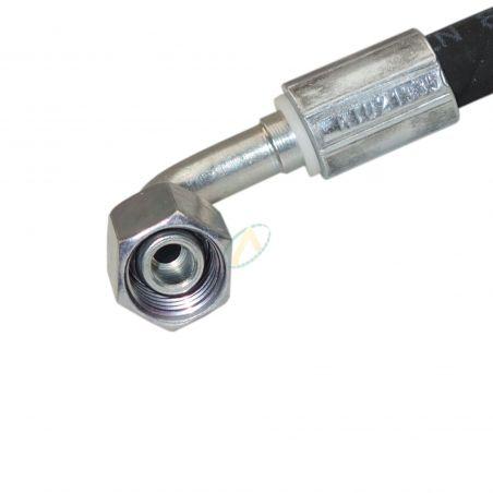 Flexible hydraulique écrou tournant 10L DIN droit et coudé 90° 350 bars