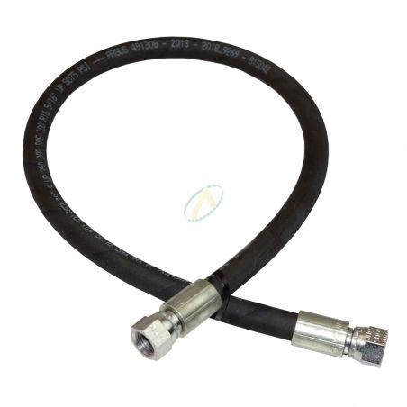 Flexible hydraulique écrou tournant 1/2 JIC droit 400 bars