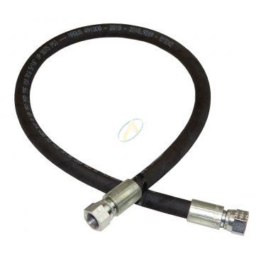 Flexible hydraulique écrou tournant 9/16 JIC droit 350 bars
