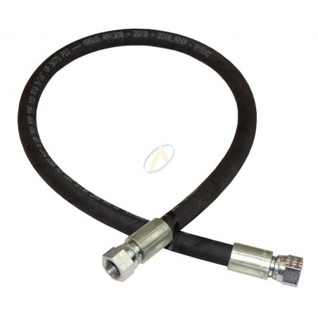 Flexible hydraulique écrou tournant 5/8 JIC droit 330 bars