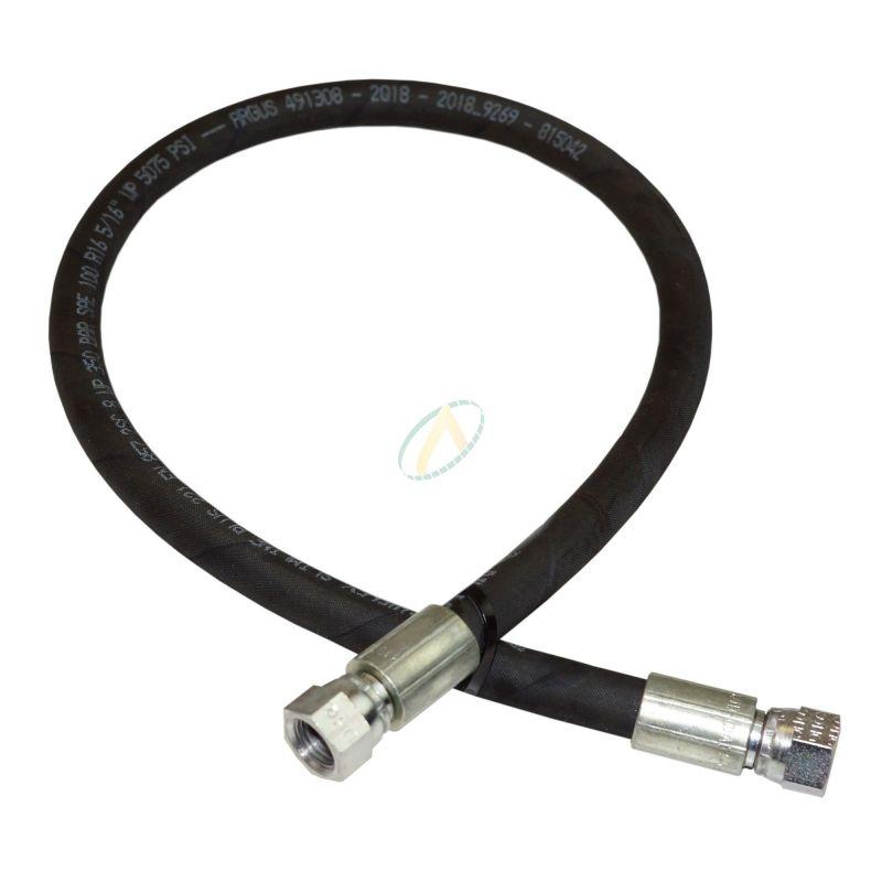 Flexible hydraulique écrou tournant 7/8 JIC droit 275 bars
