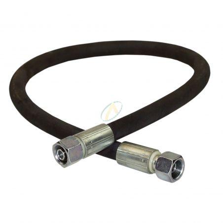 Flexible hydraulique écrou tournant 1/4 BSP droit 400 bars