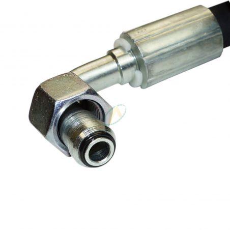 Flexible hydraulique écrou tournant 1/4 BSP droit et coudé 90° 400 bars