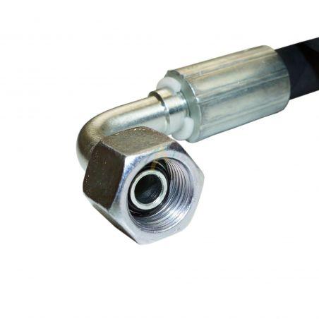 Flexible hydraulique écrou tournant 3/8 BSP droit et coudé 90° 330 bars