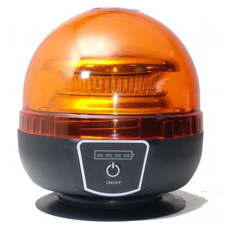 Gyrophare à led rechargeable sans fil, magnétique, 12-24 VDC, IP65, homologué
