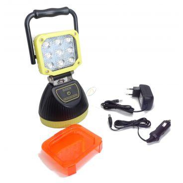 Projecteur à LED portatif rechargeable 27 Watts
