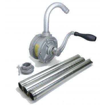Pompe manuelle vide fût rotative