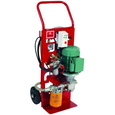Pompe de transfert d'huile 12L/min avec filtration 6 microns et volucompteur
