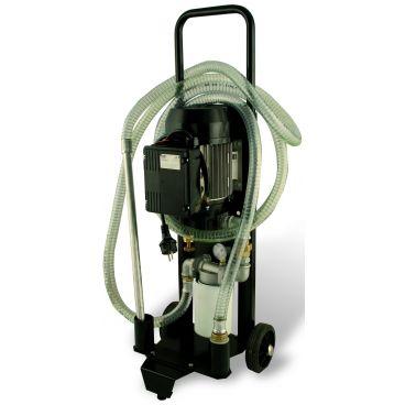 Pompe de transfert d'huile 60L/min avec filtration 10 microns