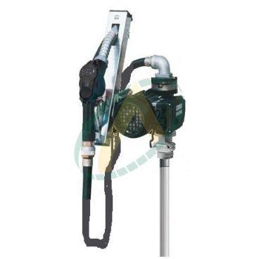 Pompe de transfert de gazoil 220 V, 56l/min avec pistolet et tuyau