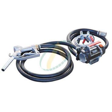Pompe de transfert de gazoil 12 V, 50l/min avec pistolet, durite et crépine