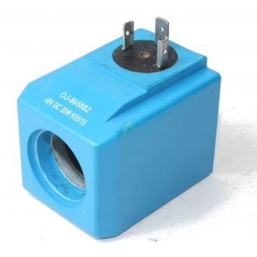 Bobine électrique Carrée 48V CC diamètre intérieur 23.5 mm longueur 60 mm