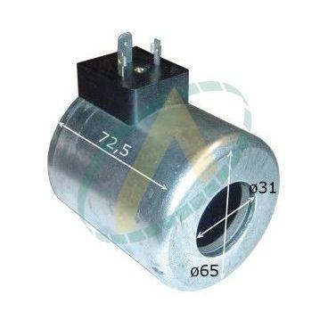 Bobine électrique Ronde 24V CC diamètre intérieur 31 mm longueur 72 mm