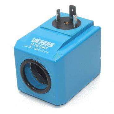 Bobine électrique Carrée 12V CC diamètre intérieur 23.5 mm longueur 60 mm puissance 30 Watts